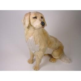 Shadow Golden Retriever Dog Stuffed Plush Realistic Lifelike