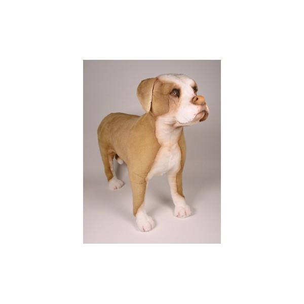 Petey Pit Bull Terrier Dog Stuffed Plush Realistic Lifelike Lifesize