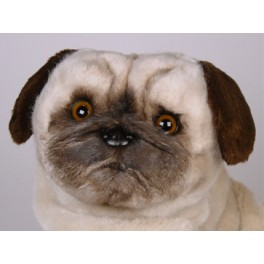 Realistic Pug Stuffed Animal, Otis Pug Dog Stuffed Plush Realistic Lifelike Lifesize Animal Display Prop