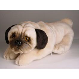 Pompey Pug Dog Stuffed Plush Realistic Lifelike Lifesize Animal