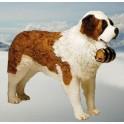 "Wallace 55"" Saint Bernard Dog Stuffed Plush Animal Display Prop"