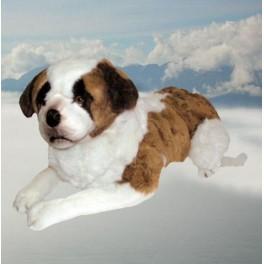 Neil Saint Bernard Dog Stuffed Plush Realistic Lifelike Lifesize
