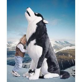 Blizzard Husky Dog Stuffed Plush Realistic Lifelike Lifesize Animal