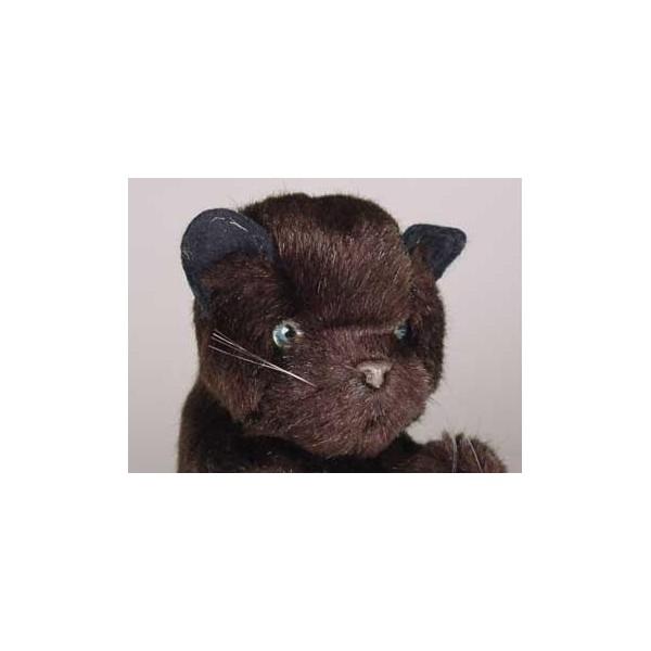 bombay black cat stuffed plush realistic lifelike lifesize animal display prop. Black Bedroom Furniture Sets. Home Design Ideas