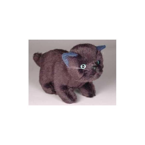 poe black cat stuffed plush realistic lifelike lifesize animal display prop. Black Bedroom Furniture Sets. Home Design Ideas