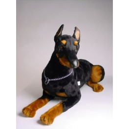 Zeus Doberman Pinscher Dog Stuffed Plush Realistic Lifelike Lifesize