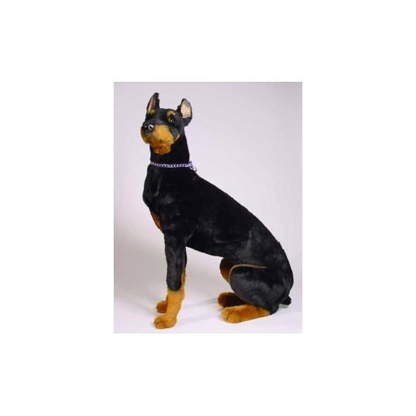 Buster Doberman Pinscher Dog Stuffed Plush Realistic Lifelike