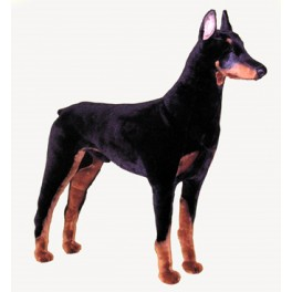 Sniper Doberman Pinscher Dog Stuffed Plush Realistic Lifelike