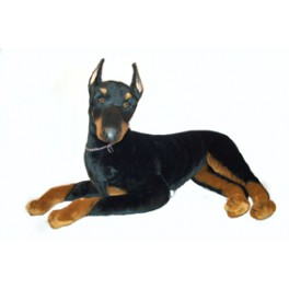 Thunder Doberman Pinscher Dog Stuffed Plush Realistic Lifelike