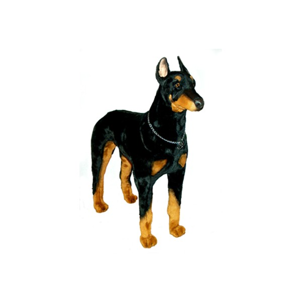 Apollo Doberman Pinscher Dog Stuffed Plush Realistic Lifelike